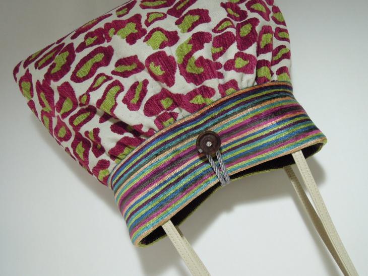 Colorful Animal Print Bag Idea