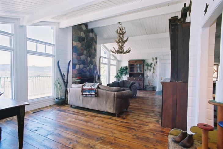 rustic antique living room