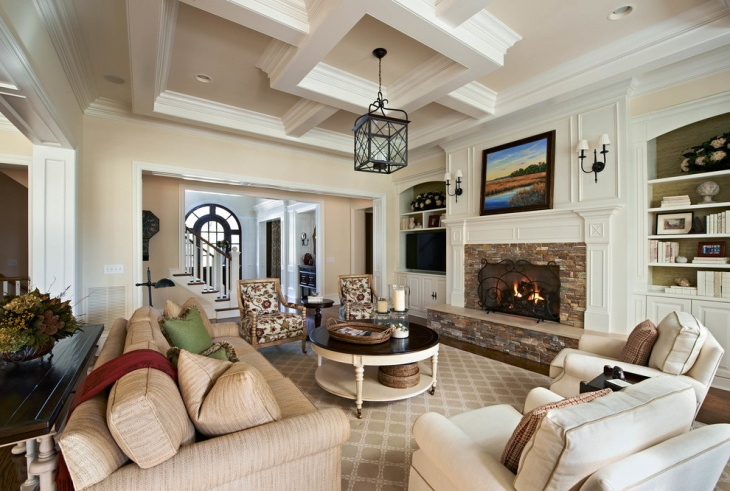 antique living room fire place