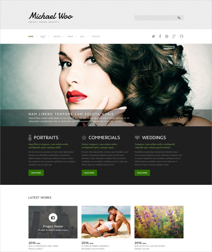 photo portfolio joomla template