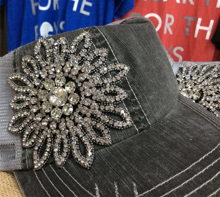 Floral Bling Hat Model