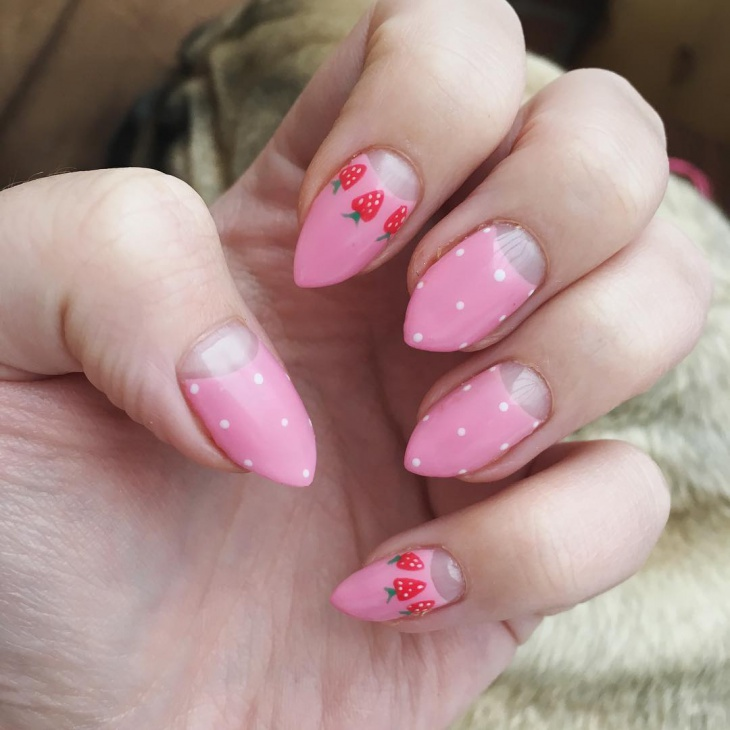 Pastel Strawberry Nails