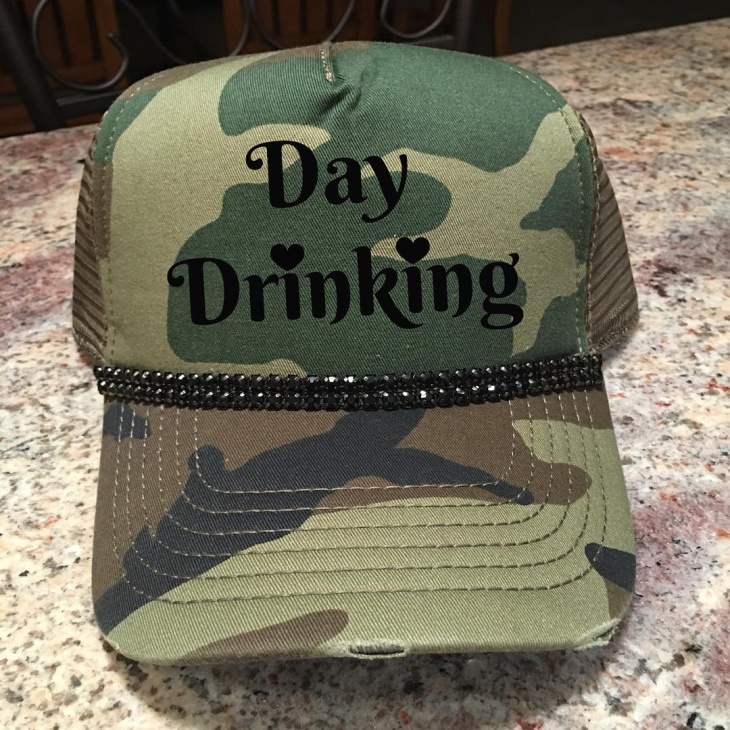 Camo Bling Hat Idea