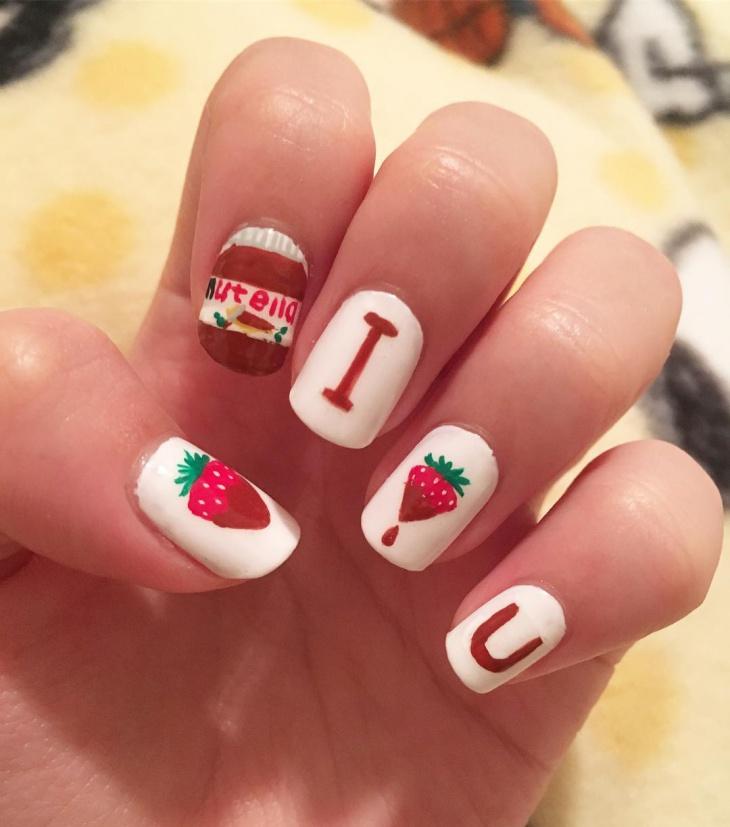 love strawberry nail art