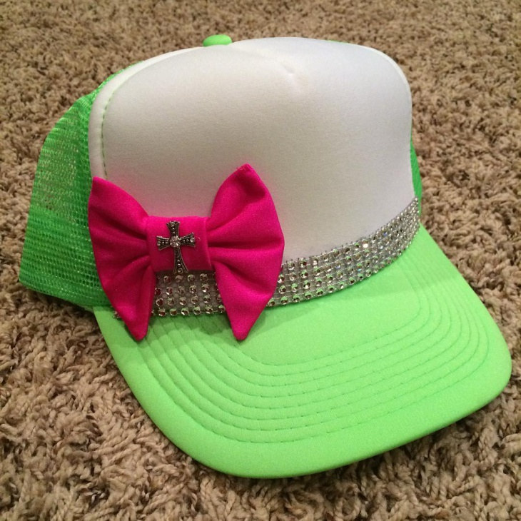 Beautiful Bow Bling Hat