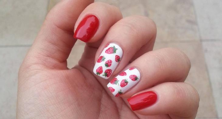 img. Strawberry ... - 21+ Strawberry Nail Art Designs, Ideas Design Trends - Premium PSD