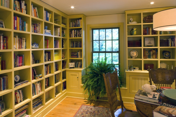 20 Home Office Bookshelves Designs Ideas Design Trends