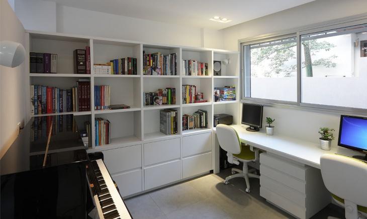 20 Home Office Bookshelves Designs Ideas