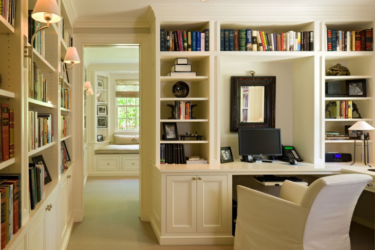 20 home office bookshelves designs ideas design trends Custom home office design