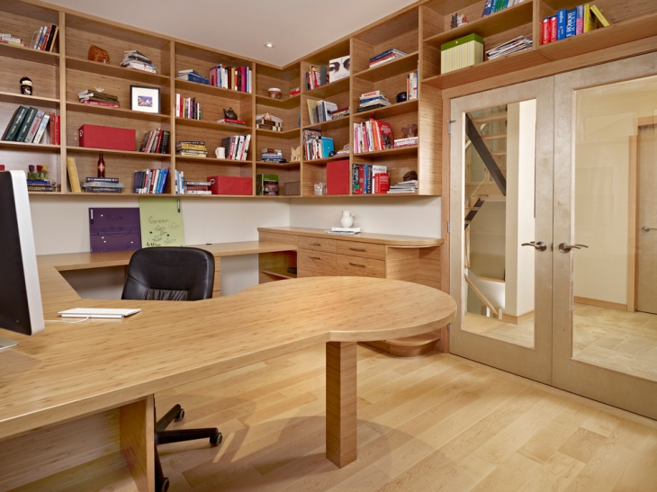 20 Home Office Bookshelves Designs Ideas