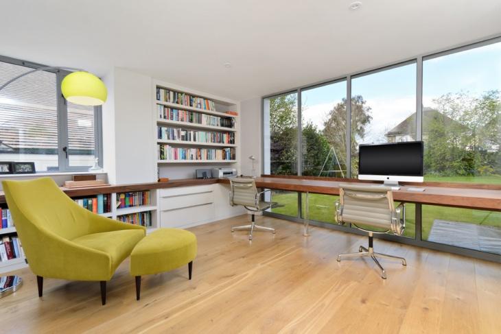 home office bookshelves furnished design