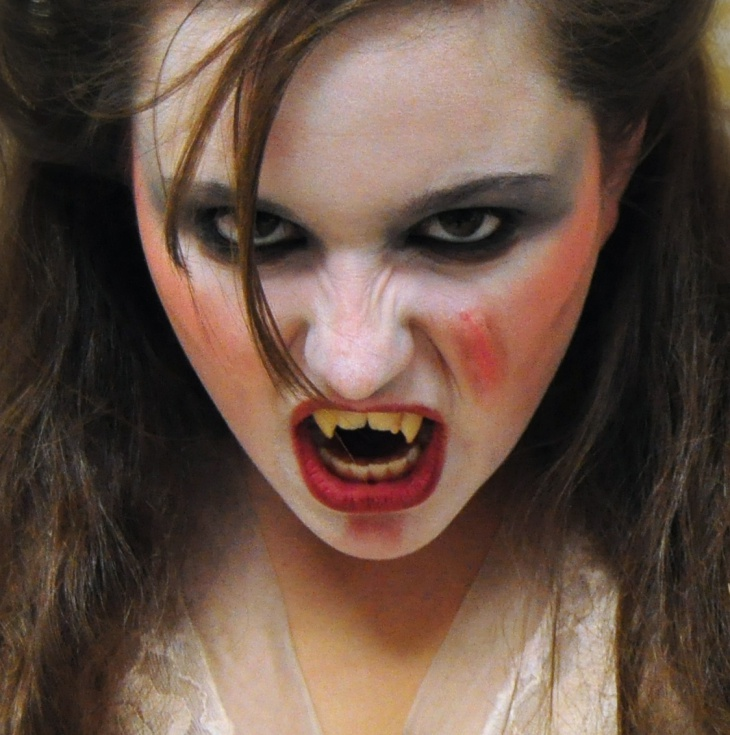 Scary Dracula Makeup