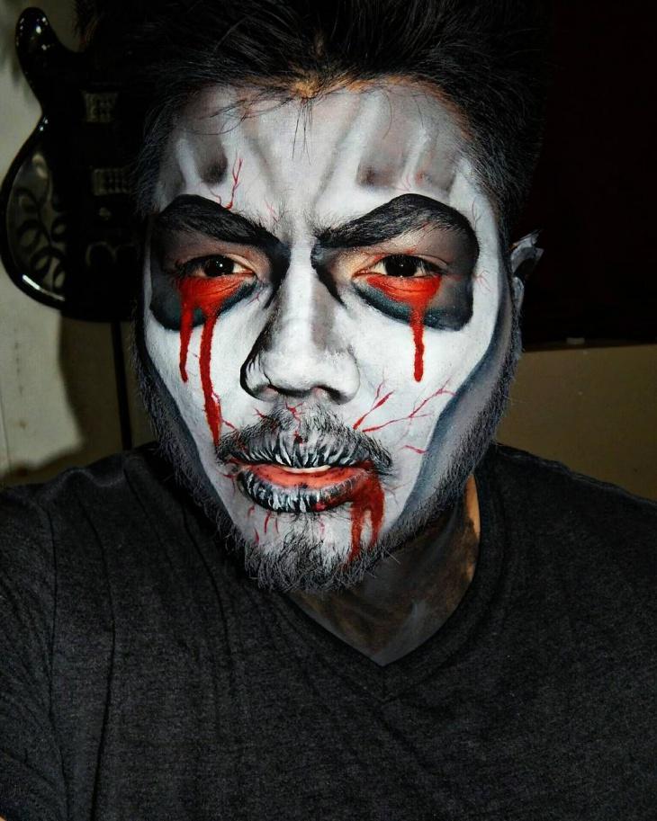 Men's Dracula Makeup Idea