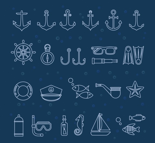 marine icon collection