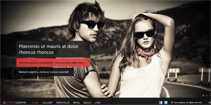 HTML5 Photography Website Template