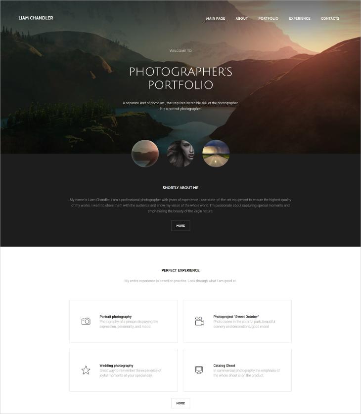 Photography Portfolio HTML5 Template