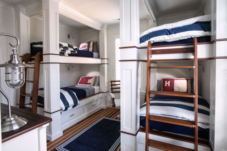 nautical cottage bedroom