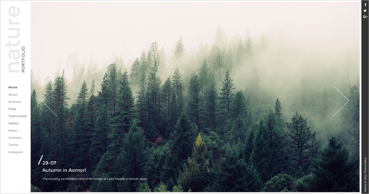 Photographer HTML5 Website Template