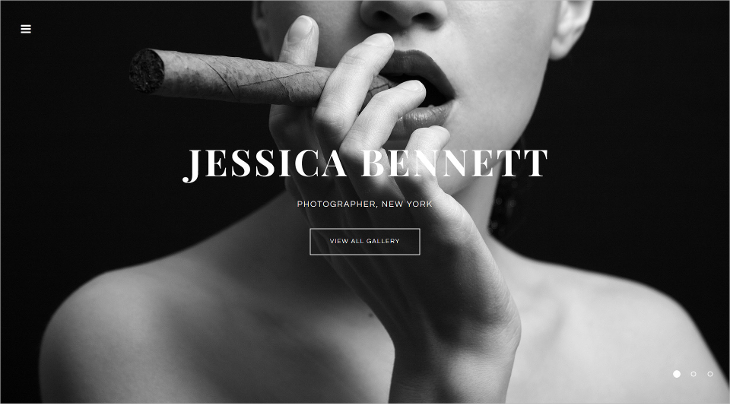 Intense Photographer Portfolio Website Template