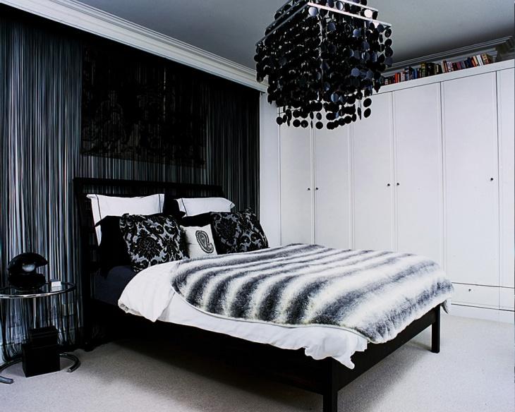 Black and White Tween Girl Bedroom