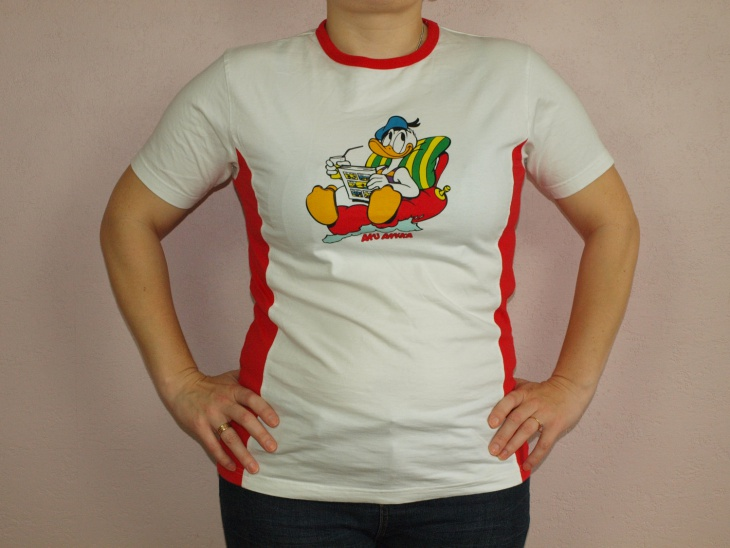 Red and White Disney T Shirt
