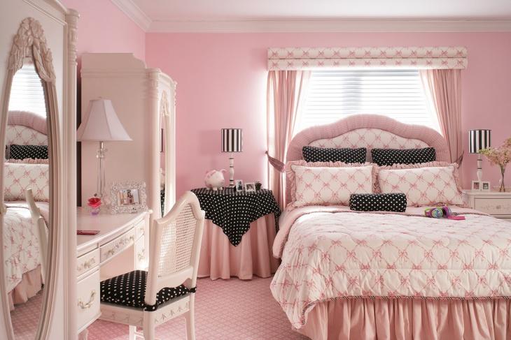 Pretty Pink Tween Girl Bedroom