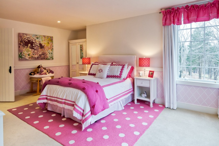 Teenage Girl Bedroom Rug Idea