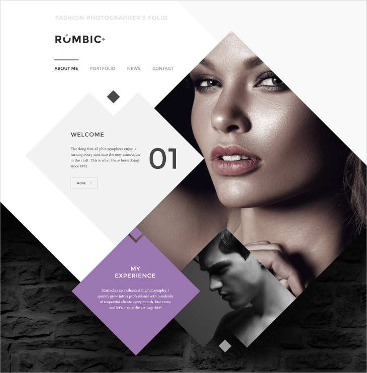 Rombic Photography HTML Website Template