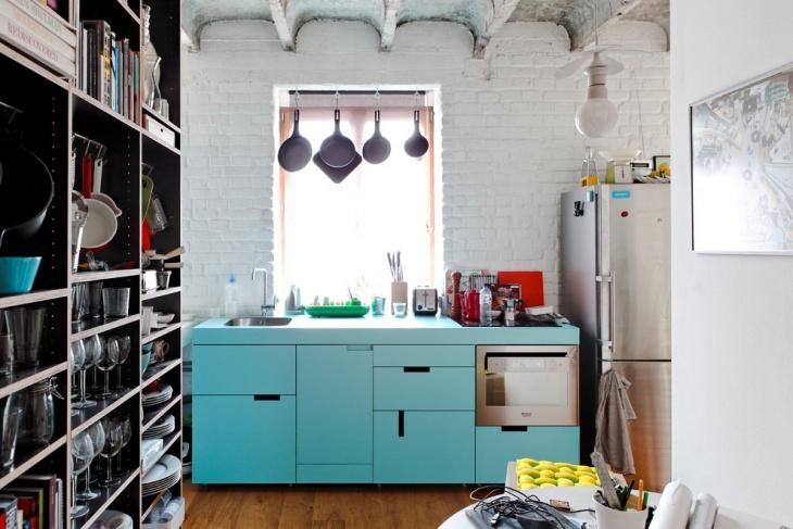 Small Industrial Home Design Idea
