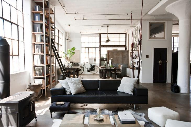 Industrial Home Living Room Design