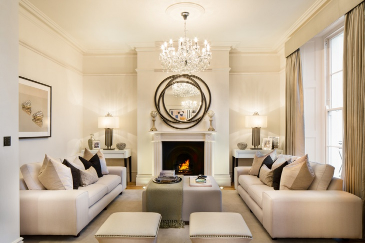 Crystal Chandelier Living Room