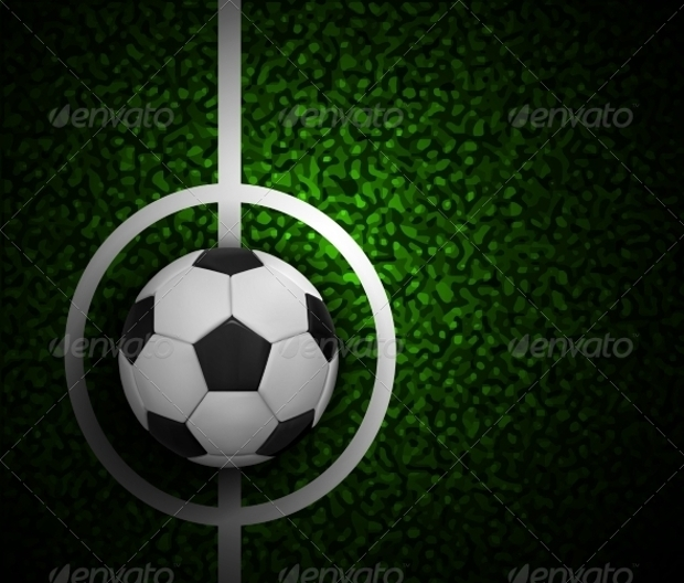 Soccer Ball Field Grass Texture