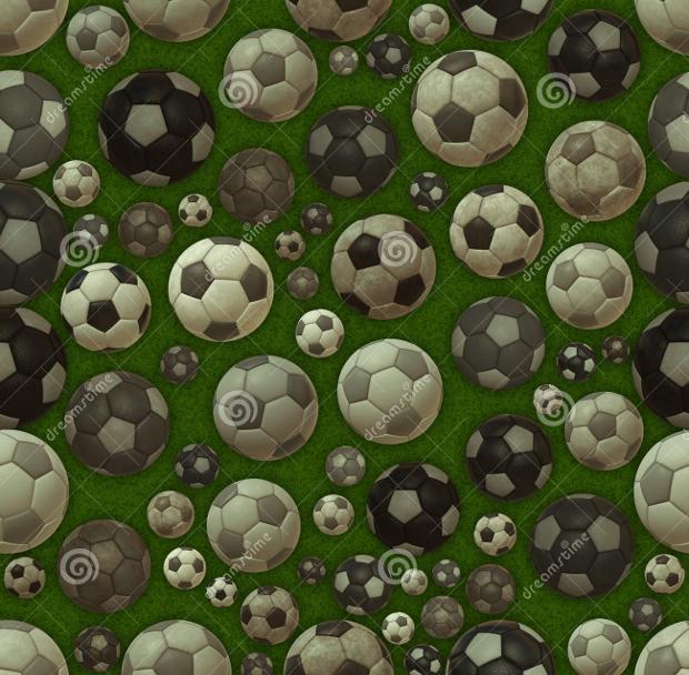 green soccer balls texture