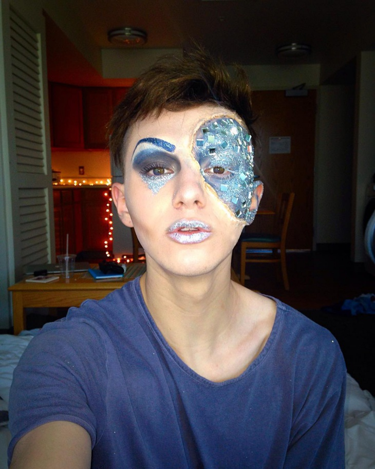 Blue Drag Queen Makeup Design