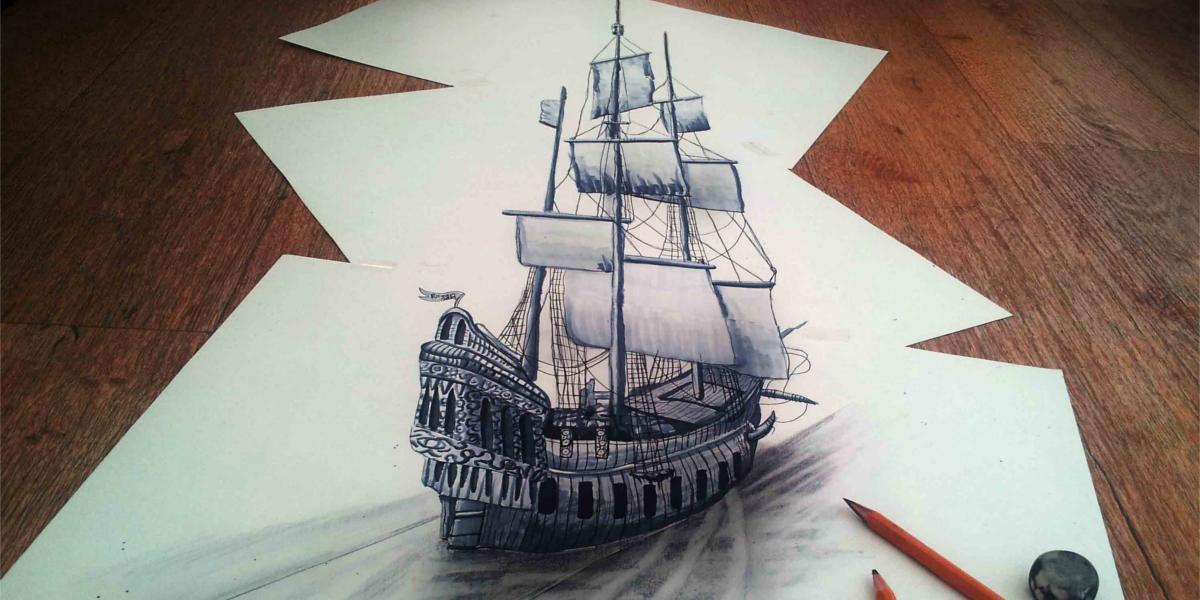 3d Boat Sketch