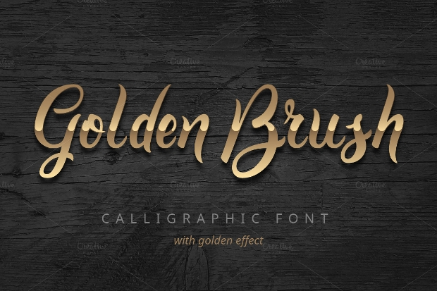 royal golden brush font