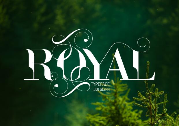 royal typeface font