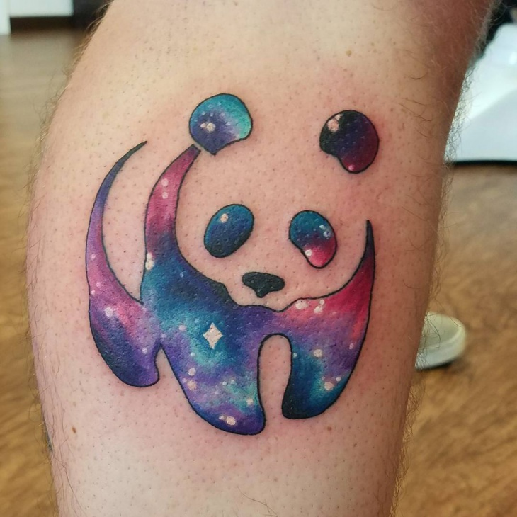 cute galaxy tattoo idea