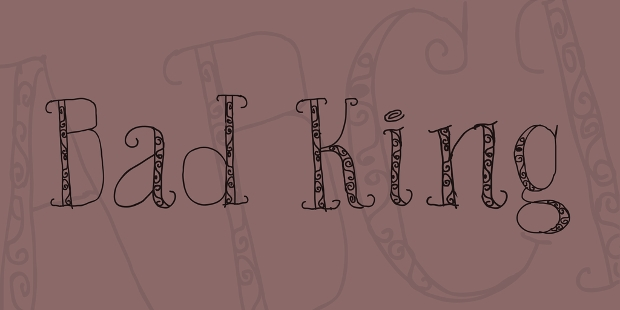 bad king font