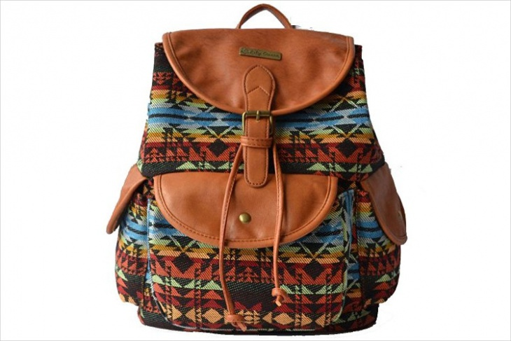 trendy tribal print backpack