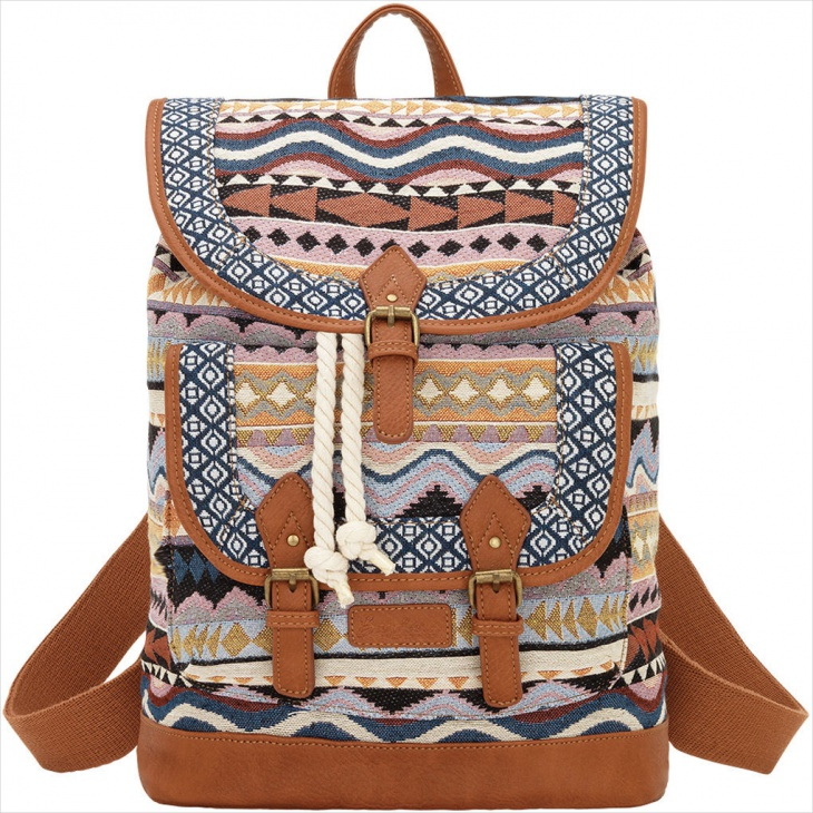beautiful tribal backpack design