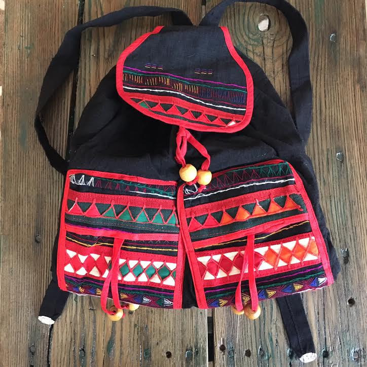 retro style tribal backpack