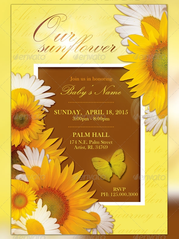 sunflower raffle flyer template