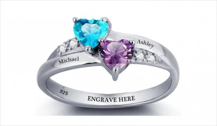 custom heart ring design