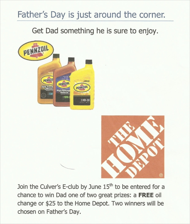 fathers day raffle flyer