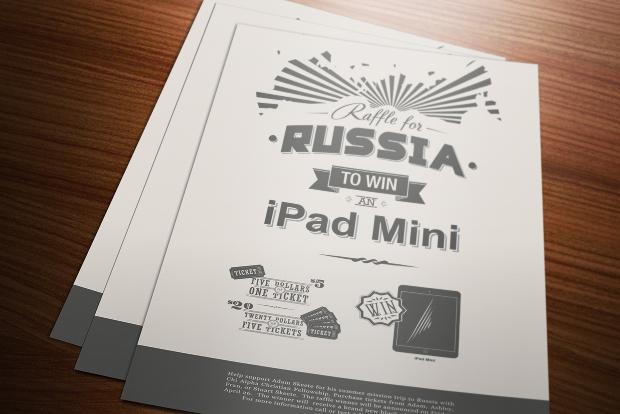 russia raffle flyer
