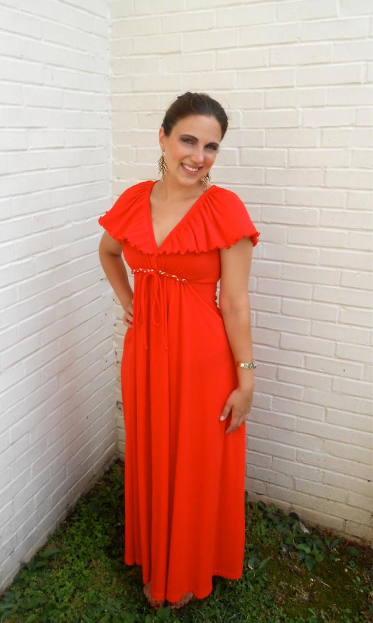 Plunge Maxi Dress Design