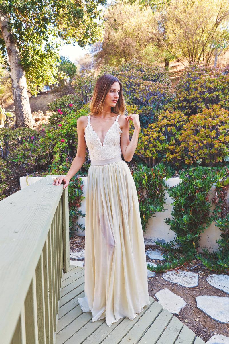 Plunge Wedding Dress
