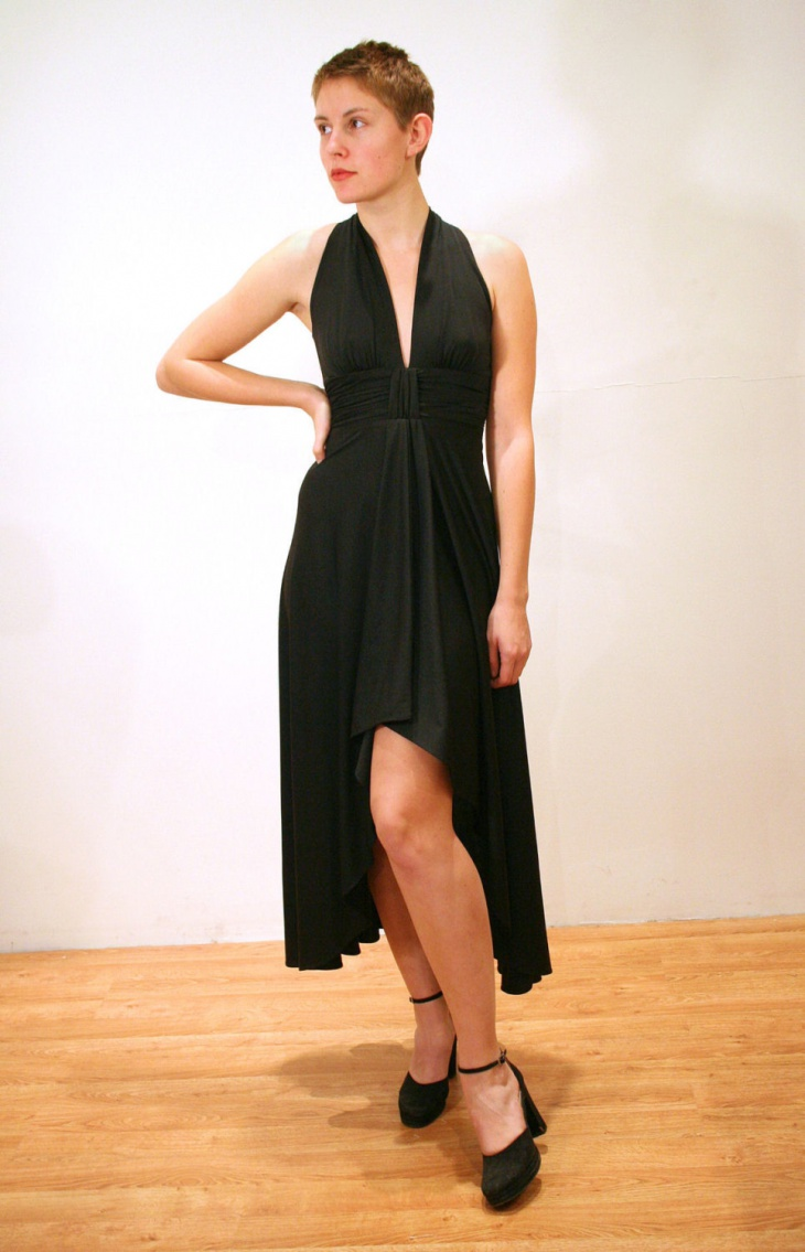 Plunge Asymmetric Dress