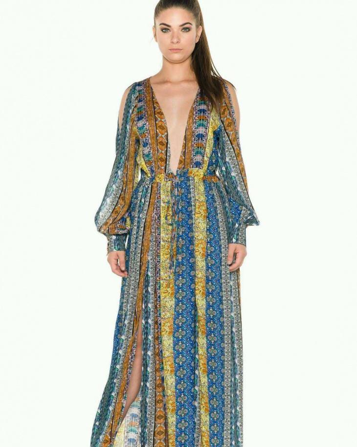 gypsy style plunge dress